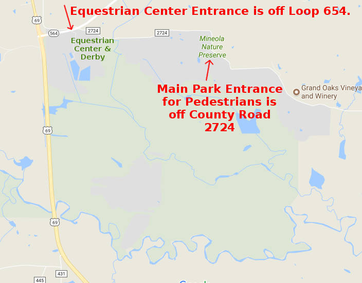 equestrian center entrance map